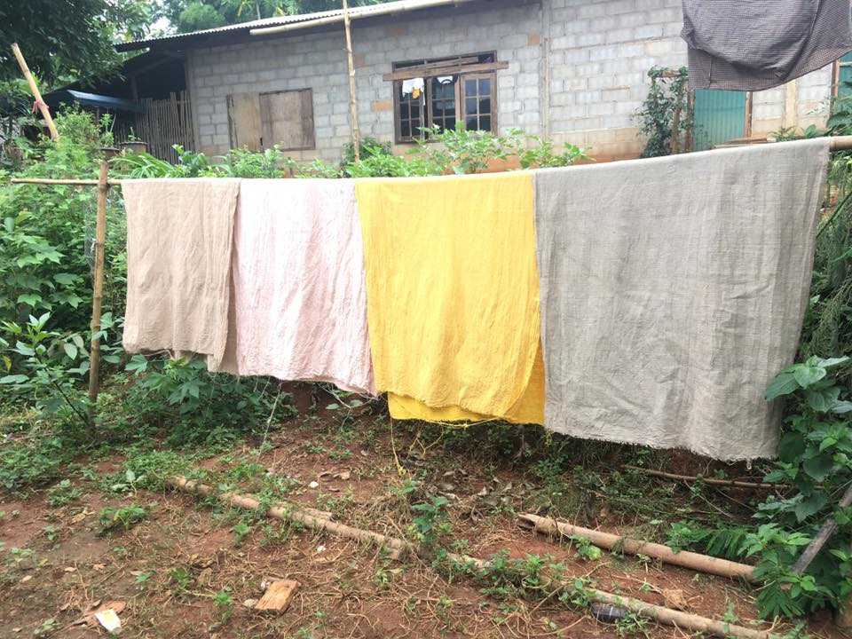 The fruits of the grandmas' labor, hanging out to dry. PC: Rotjana Kongsaen