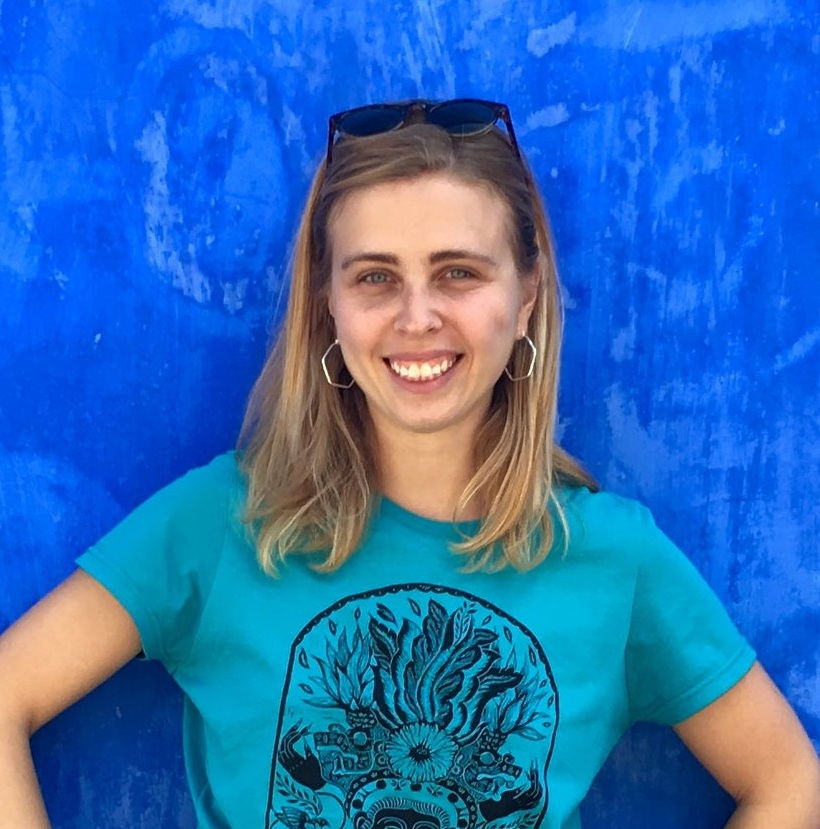Zoe Swartz   Zoe has always had a knack for telling stories and puts her skills to use by doing creative writing for RadGram. Zoe puts the words together for the website, video scripts, and other promotional materials to give our concept a voice. When Zoe isn't coming up with sassy radical grandma material, she rides a pedicab around the French Quarter of New Orleans or has her hands in clay making ceramic art.