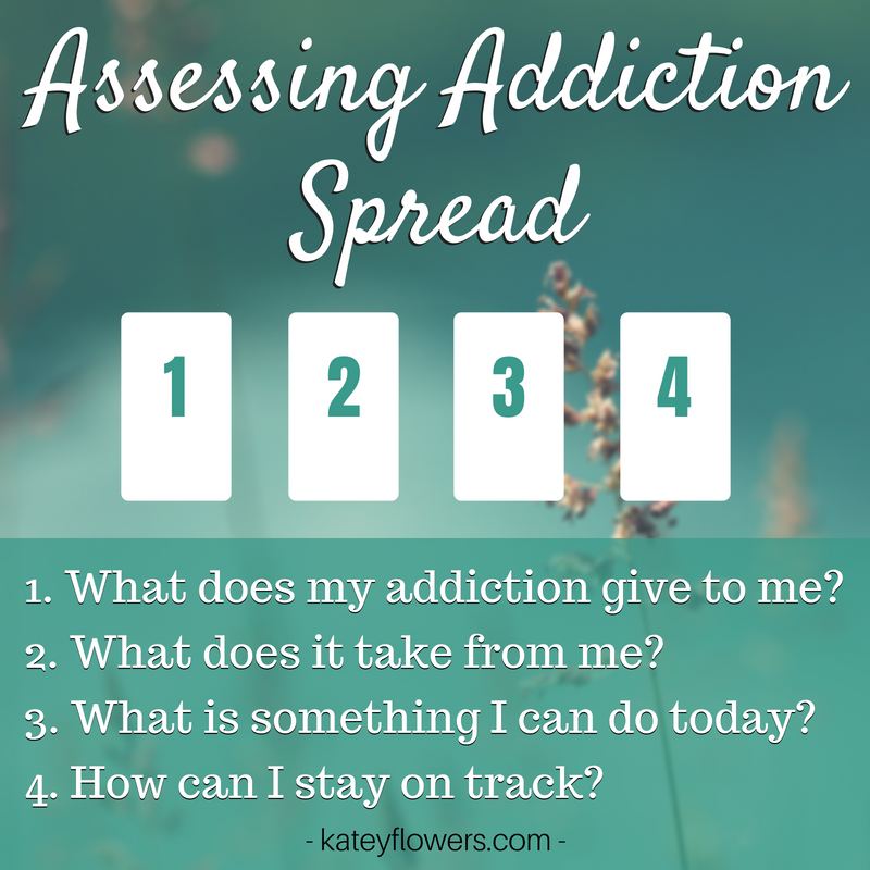 addiction assessment tarot spread