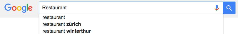 Restaurantsuche Google