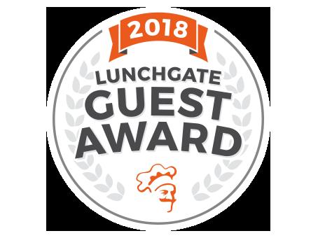 Benötigen Sie mehr Sticker? - Mit dem Lunchgate Guest Award Sticker zeigen Sie Ihren Gästen, dass Sie zu den Top Restaurants gehören und dass Sie das Feedback Ihrer Gäste schätzen.