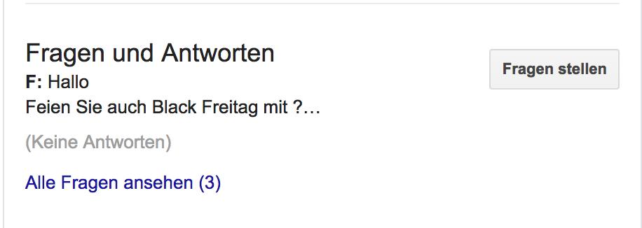 Google FAQ