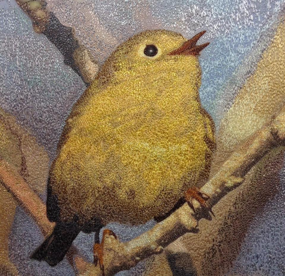 Little Yellow Bird, from a photo by Lorra Rudman.  Sold