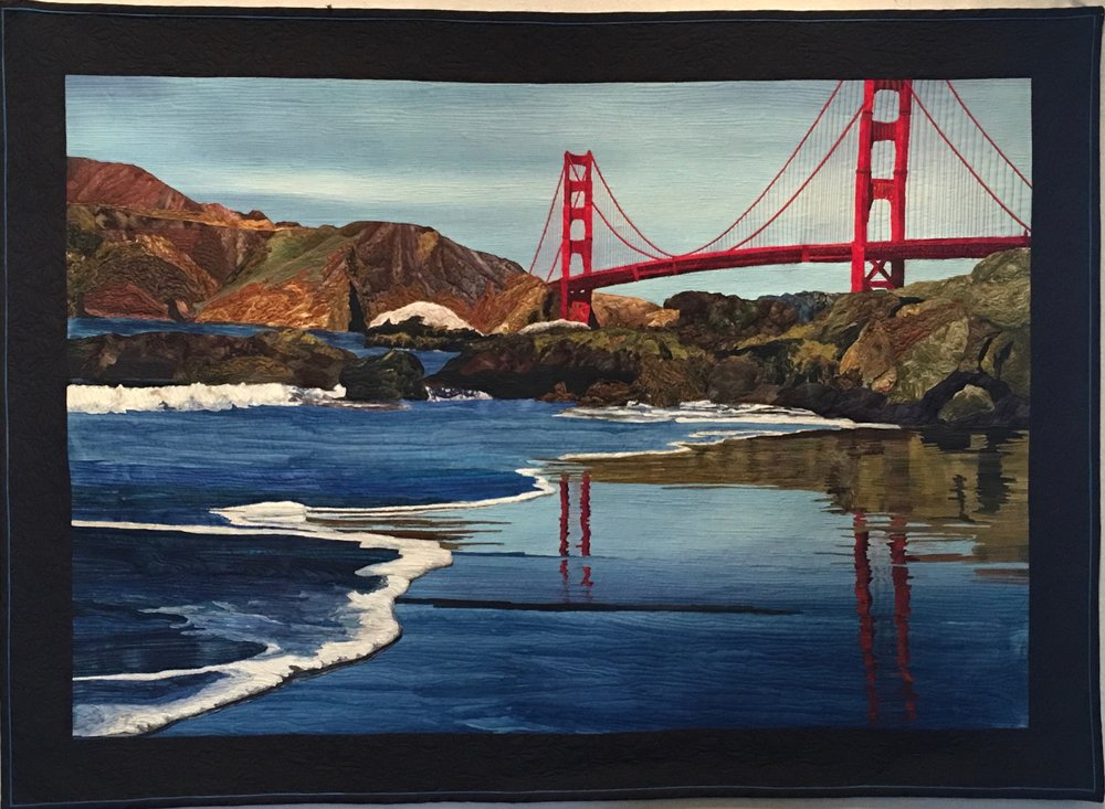 Baker Beach.  Based on a photo by John Slot.