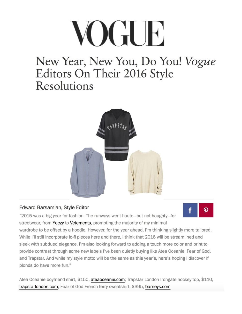 via Vogue Magazine.