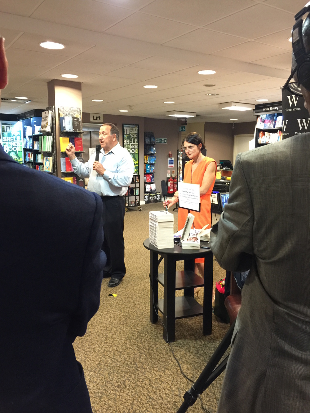 Book launch of The Pill That Steals Lives at Waterstone's, Kensington High Street.   David Carmichael from Toronto has flown in especially to talk about the tragic death  of his son