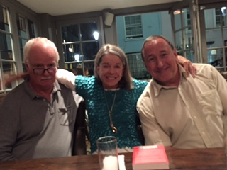 Peter and Julie Wood  from SSRI stories and David Carmichael. Dinner in Notting Hill, London to discuss how we can create a team across the world to promote better understanding of the potentially lethal side effects of antidepressants.