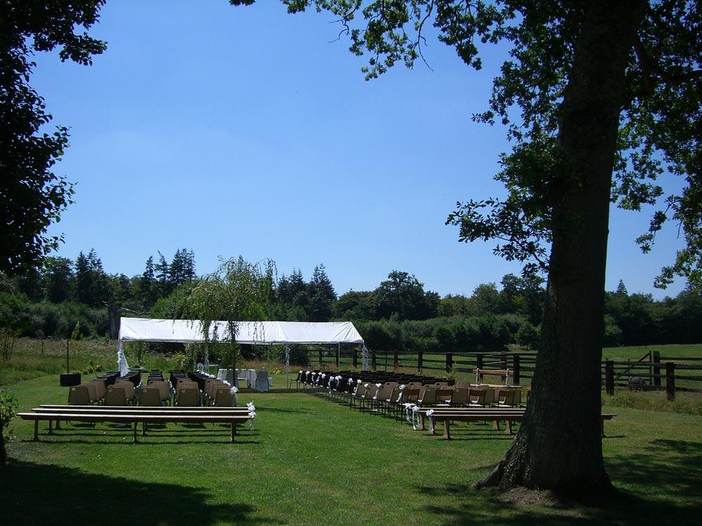 Organisation d'un mariage en extérieur - Domaine de la Tour