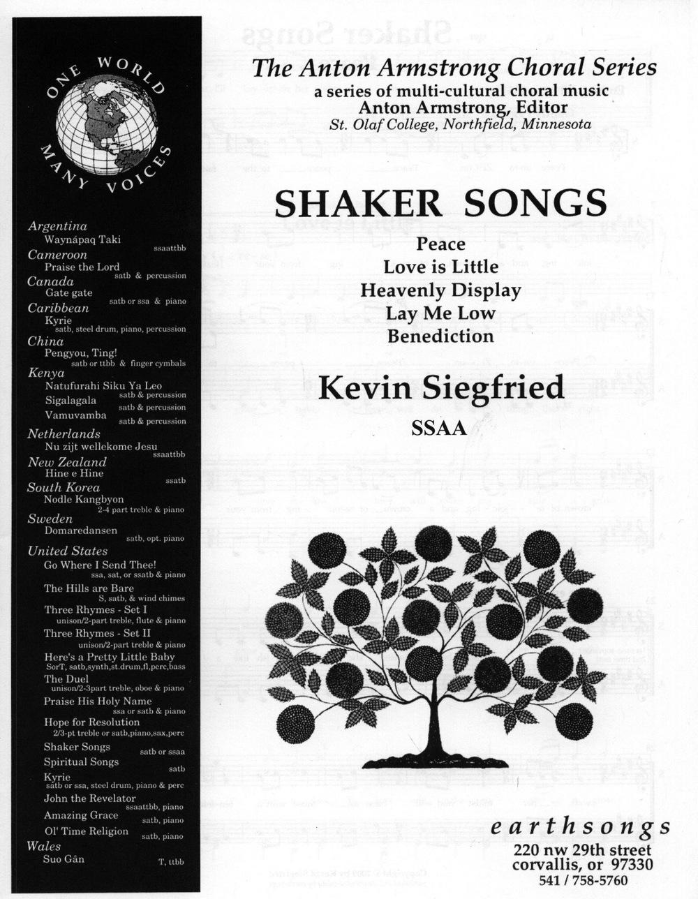 Shaker Songs SSAA