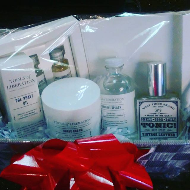 Start shopping for your men!!!.....shave kit includes shave cream, pre shave oil, aftershave, 3 sample tonics, & full bottle of vintage leather tonic all $65