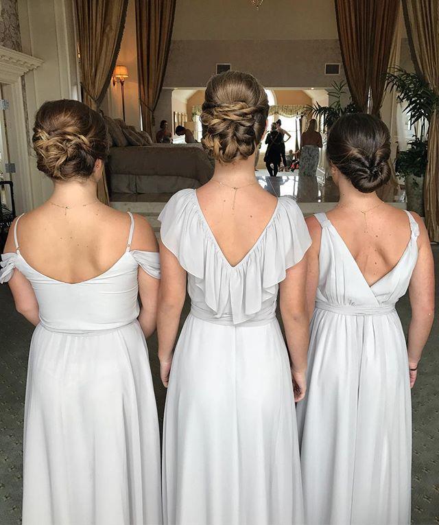 #bridesmaids #weddinghair #bridalhair #weddings #hairbyme