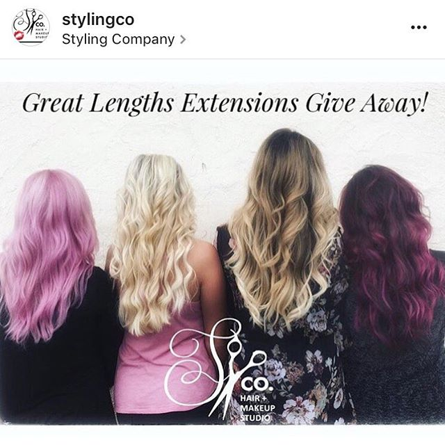 Styling Co is having a Great Lengths Extensions giveaway for one lucky girl! You could win a free extension makeover here at our NJ salon! All you have to do is:  1. Follow us.  2. Like this post.  3. Repost this with the hashtag #stylingcogiveaway  The winner will have their before and after posted on our website. You must have hair that is ready for the extensions, to be judged upon consultation. The winner can choose up to four bundles of Great Lengths Hair. If the winner is not a good candidate they can win for a friend!