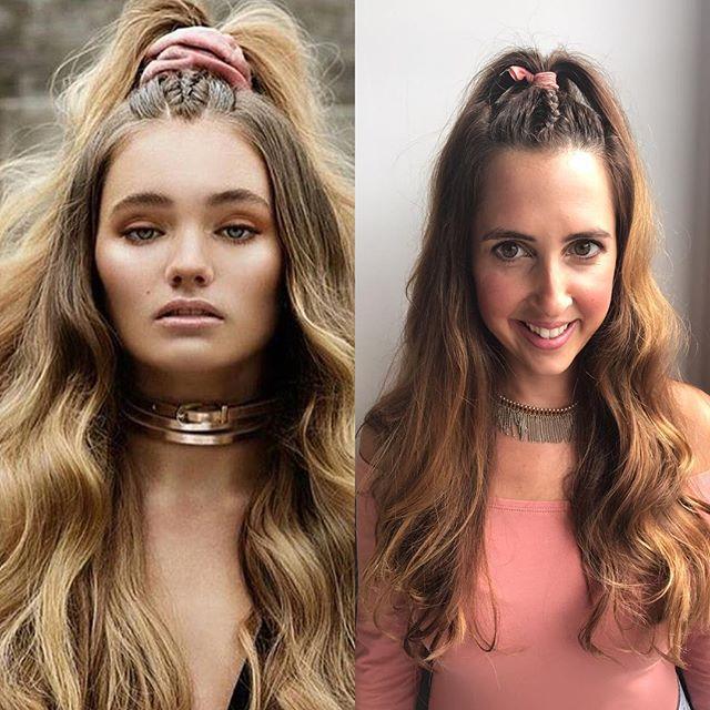 #pinspiration #sisterstyles #hairplay #bigwaves #braids 🎀