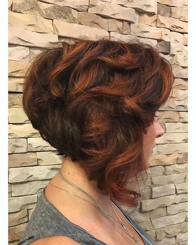 Pumpkin Spice color and a nice dramatic a-line cut 🎃 ☕️ #comeseeme @stylingco #belmarnj #belmarsalon #alinebob #pumpkinspice #fallhair #fallhaircolor #njhairstylist #hairstylist