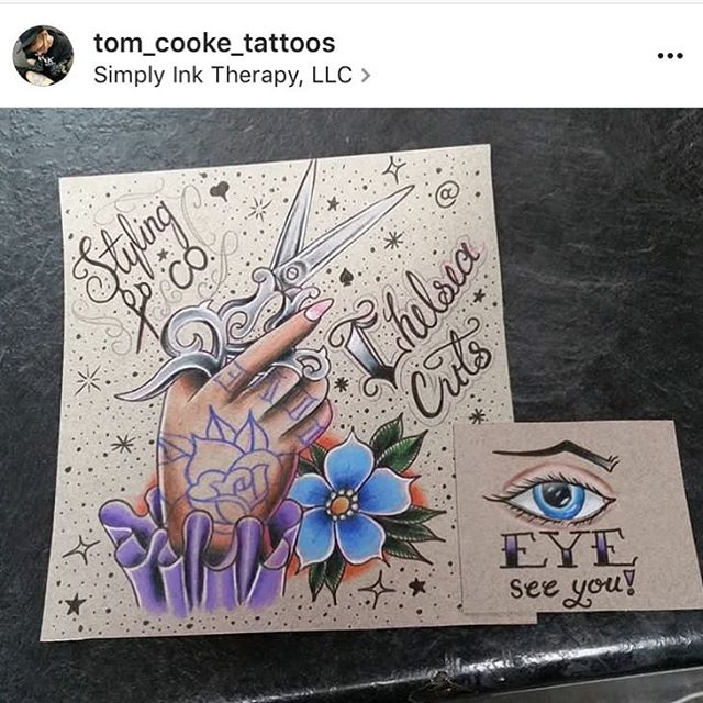 When your boyfriend is so talented 💘 @tom_cooke_tattoos #comeseeus @stylingco #belmar #nj #jamesburg #njtattooartist #inktherapy #inktherapynj #tattoo #drawing #tatted