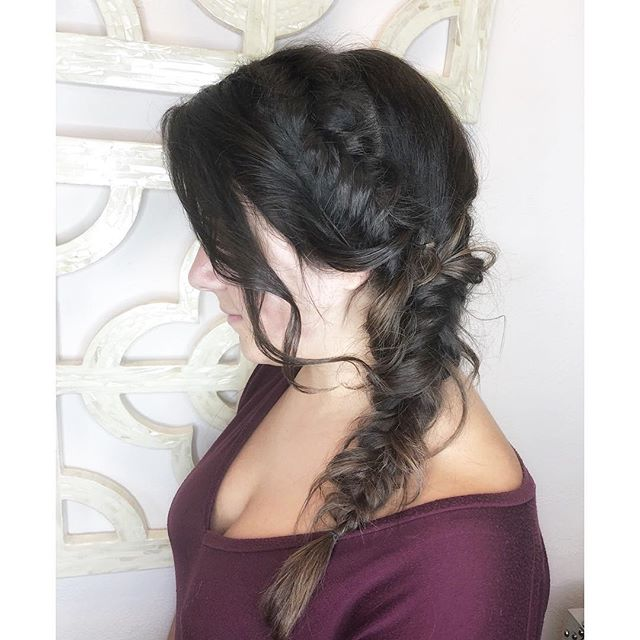 Messy fishtail braid good for any occasion ✨