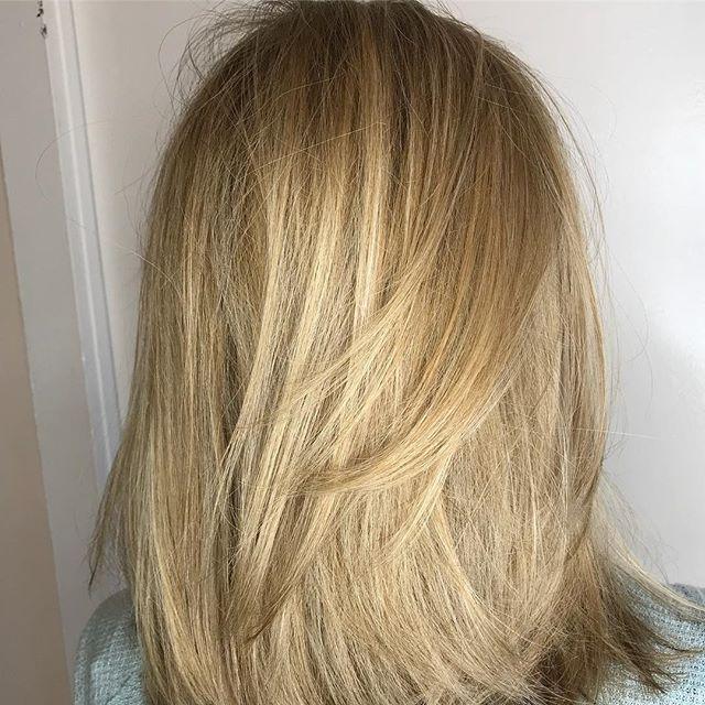 Blended👌🏻 @stylingco #blonde #hairstyles #belmar #blondehighlights