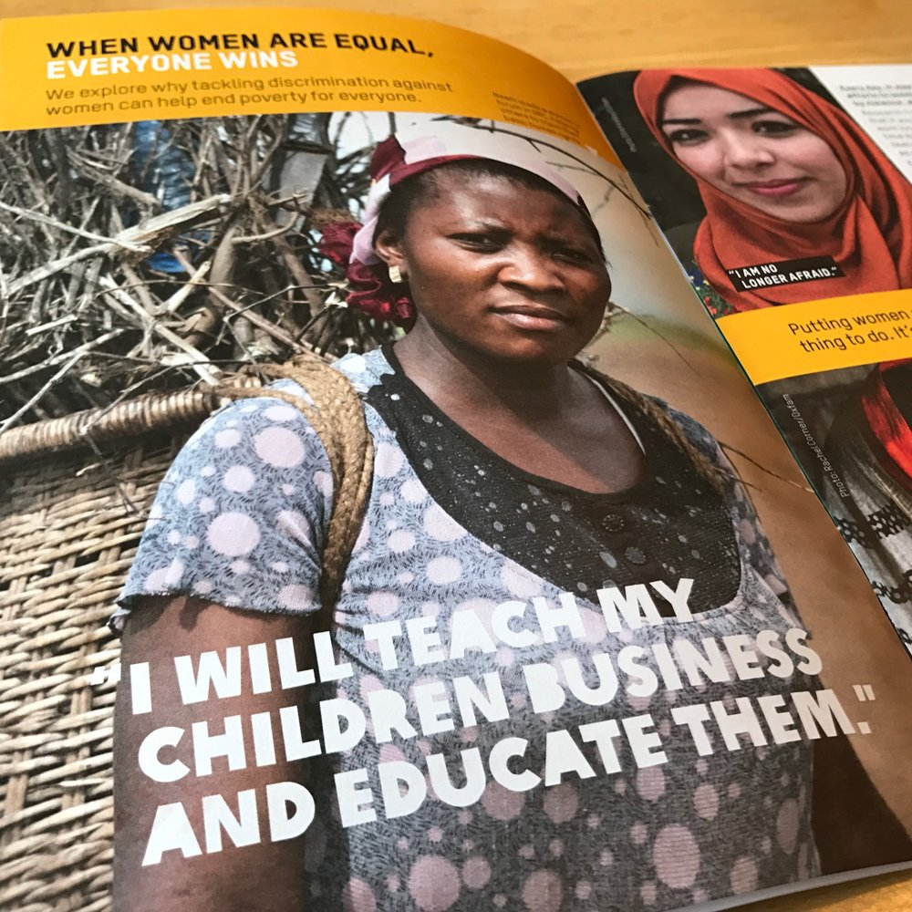 An article from Oxfam's supporter magazine on empowering women farmers.
