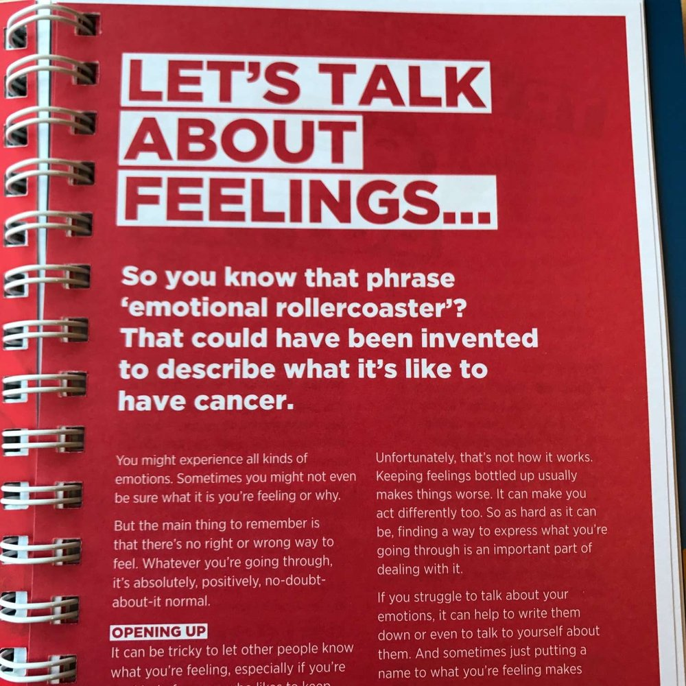 The emotional impact of cancer was a big focus of the book.