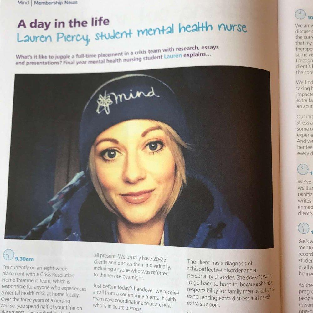 Interview with mental health nurse Lauren Piercy