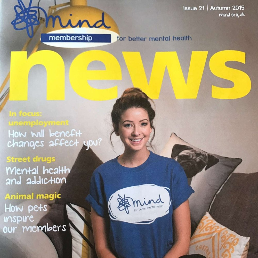 Zoella interview for Mind Membership News
