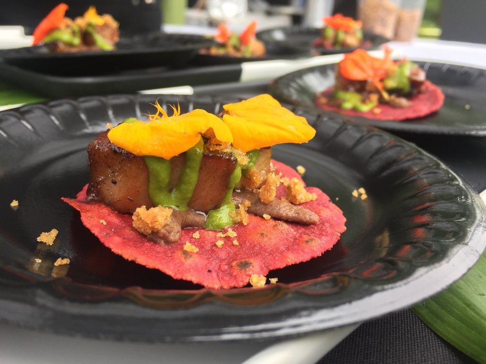 The winning taco from Gourmet in the Garden 2017
