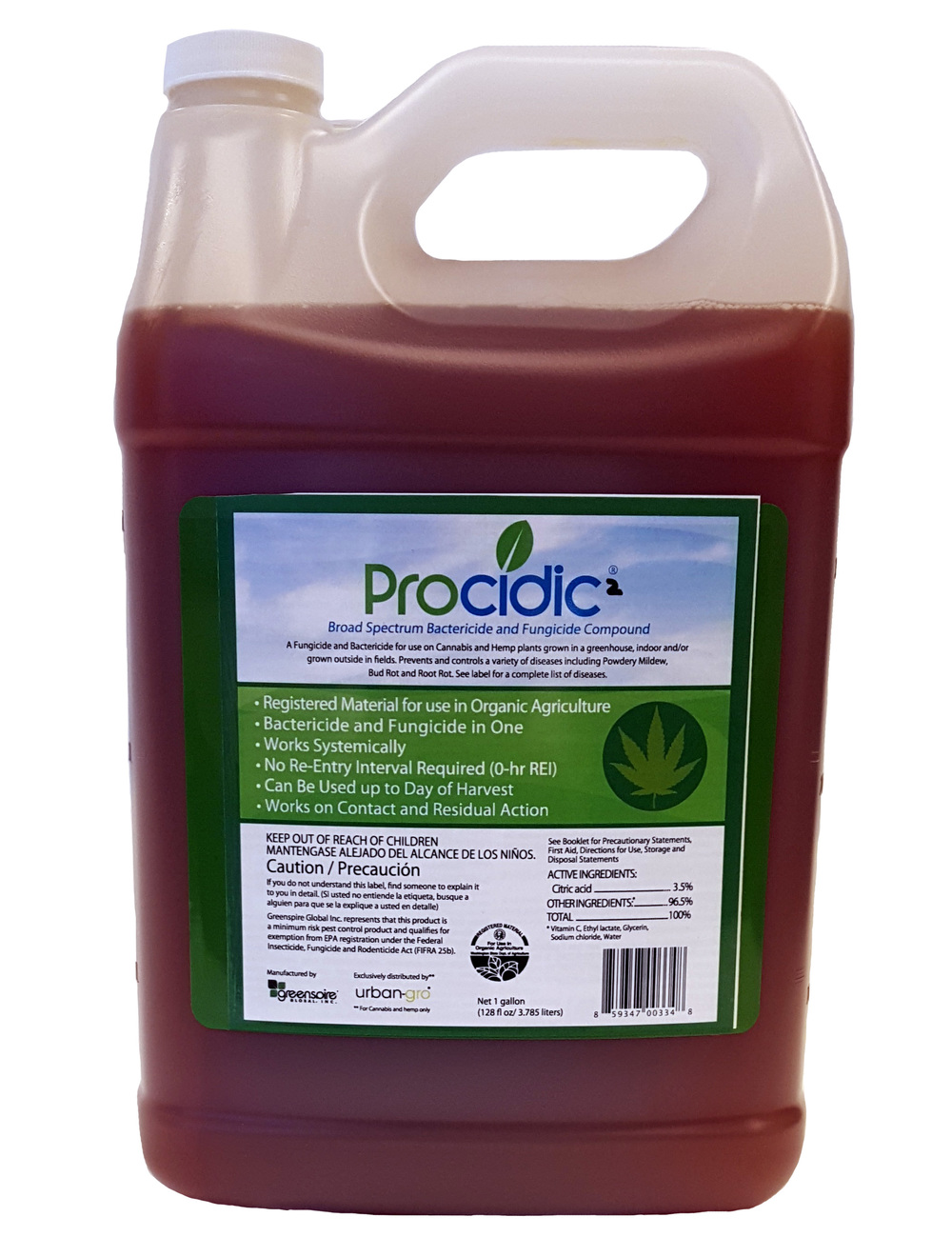 Procidic² is the first registered pesticide for the Cannabis industry.