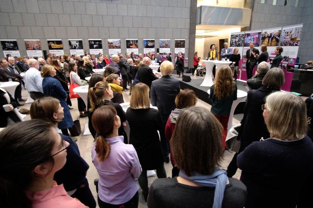 Eröffnung der Ausstellung  Die Macht der Gefühle  am 5. März 2019 im Foyer der EVZ in Berlin / Foto: Dr. Ulrich Mählert