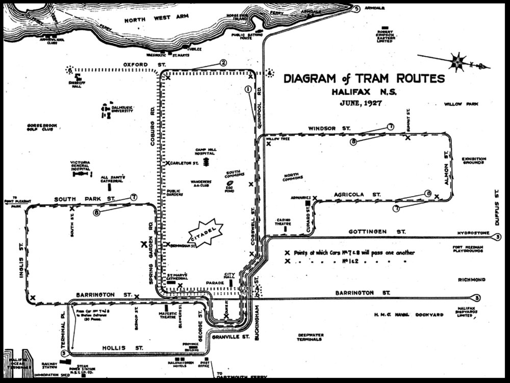 The Halifax tram network in 1927. ( Source )