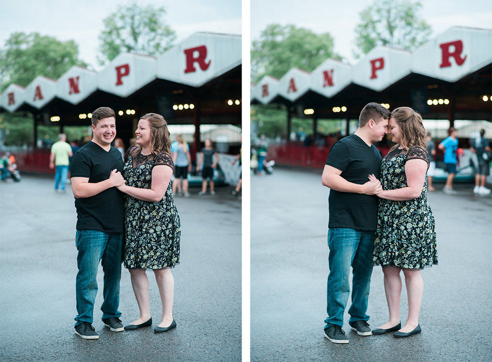 Kennywood Engagement Session PIttsburgh Photographer