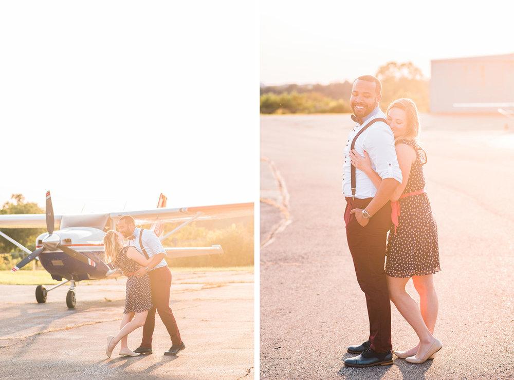pittsburgh wedding photographers airport photoshoot