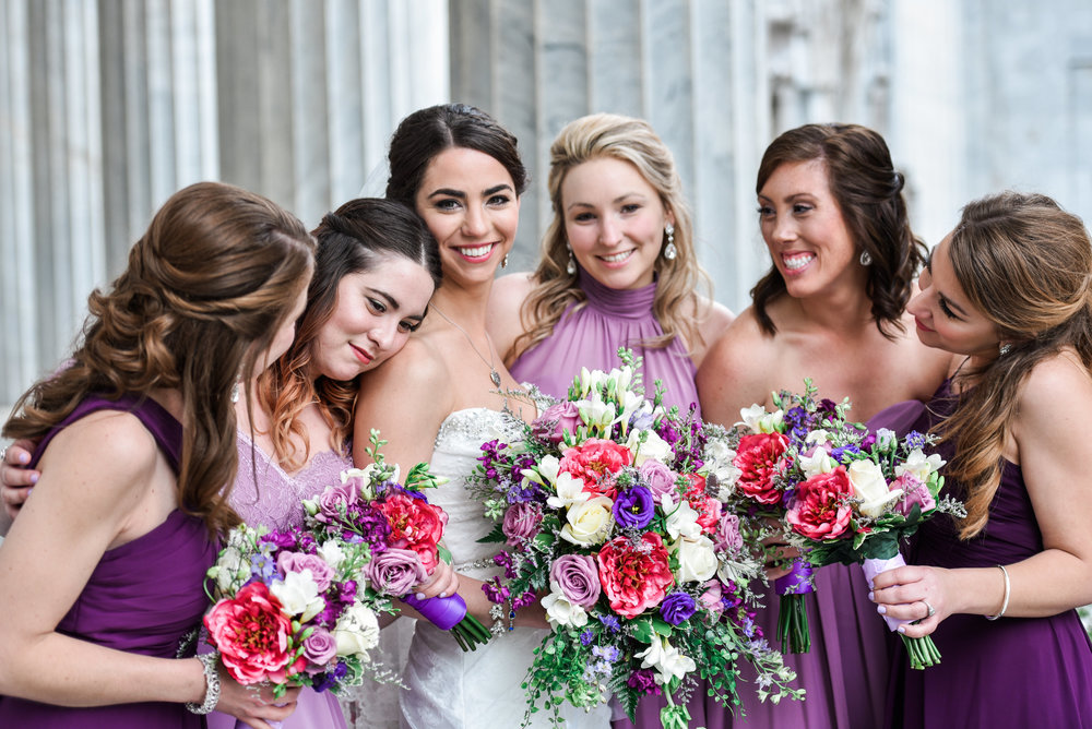 Pittsburgh wedding photographer bridal party photo