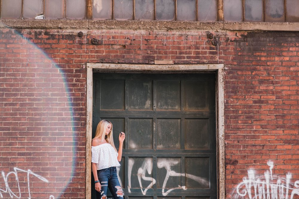 strip district senior session pittsburgh senior pictures