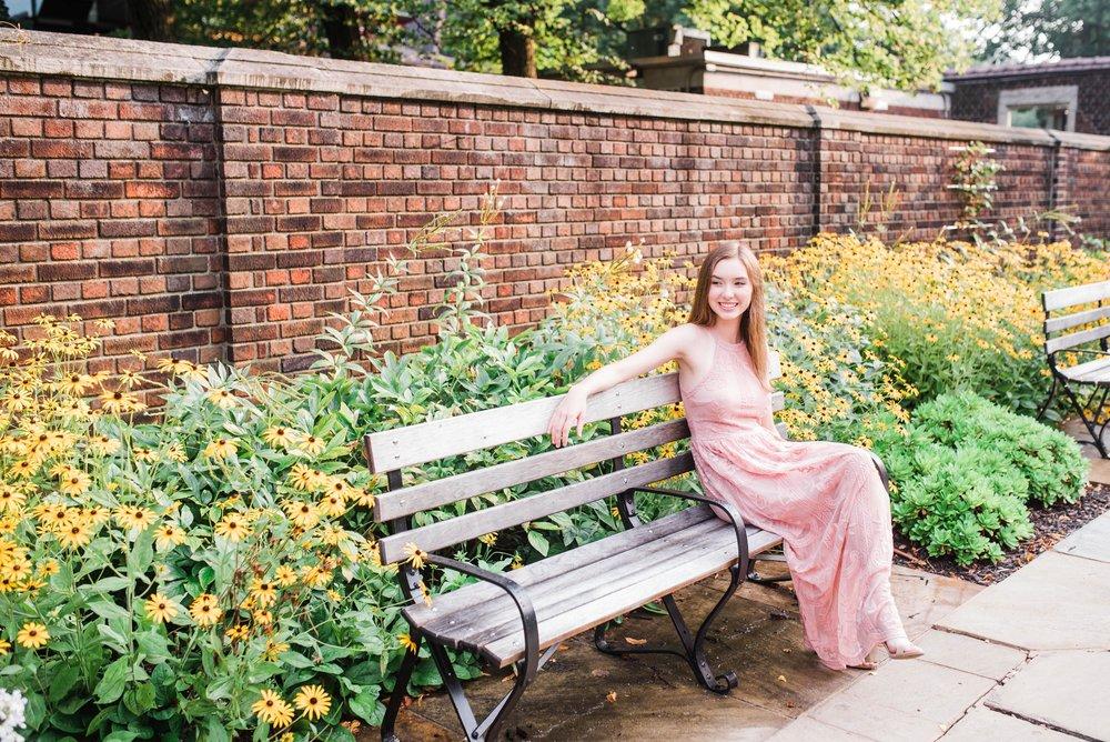 mellon park senior portrait photographer