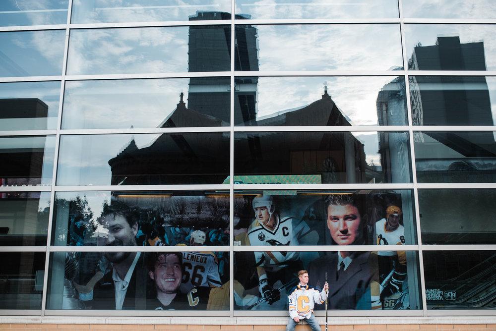 ppg paints arena senior portraits