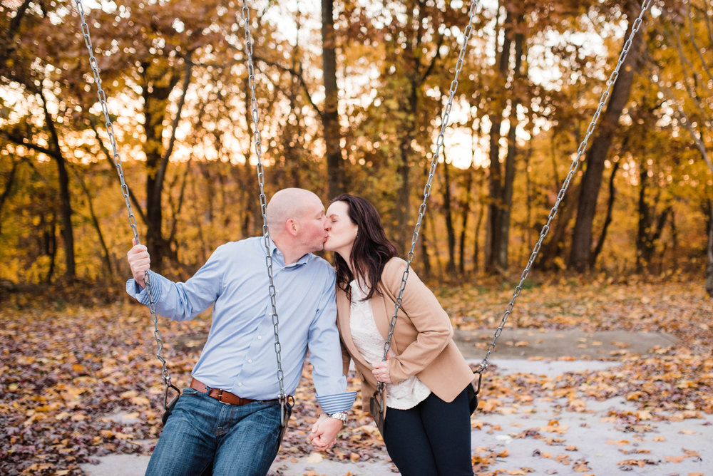 north park engagement session fall