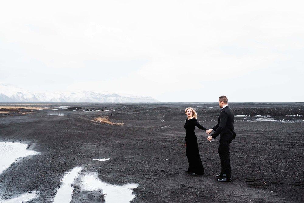 Iceland engagement session