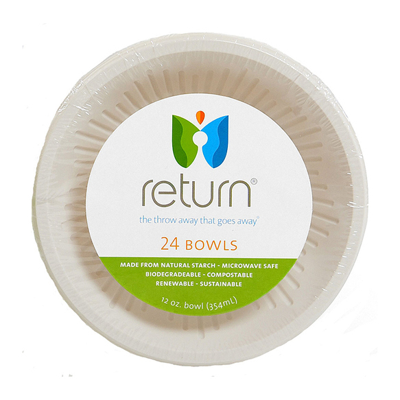 100% Natural Starch Compostable Bowls