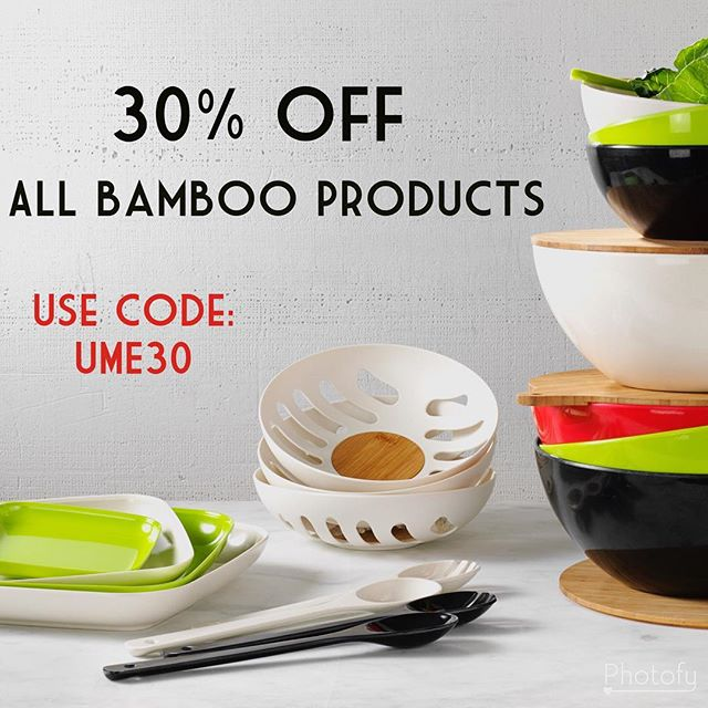 Last chance for great savings! 30% off all our bamboo products! * * * * * #cybermonday #savebig #sale #shopping #YumiEcoSolutions #PlantsNotPlastic #ecofriendly #ecoparty #ecoliving #ecolifestyle #sustainablelifestyle #sustainableliving