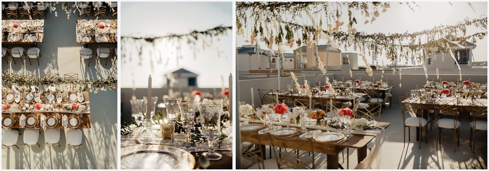 Gorgeous wedding rooftop reception at the Epiphany in Seaside, FL