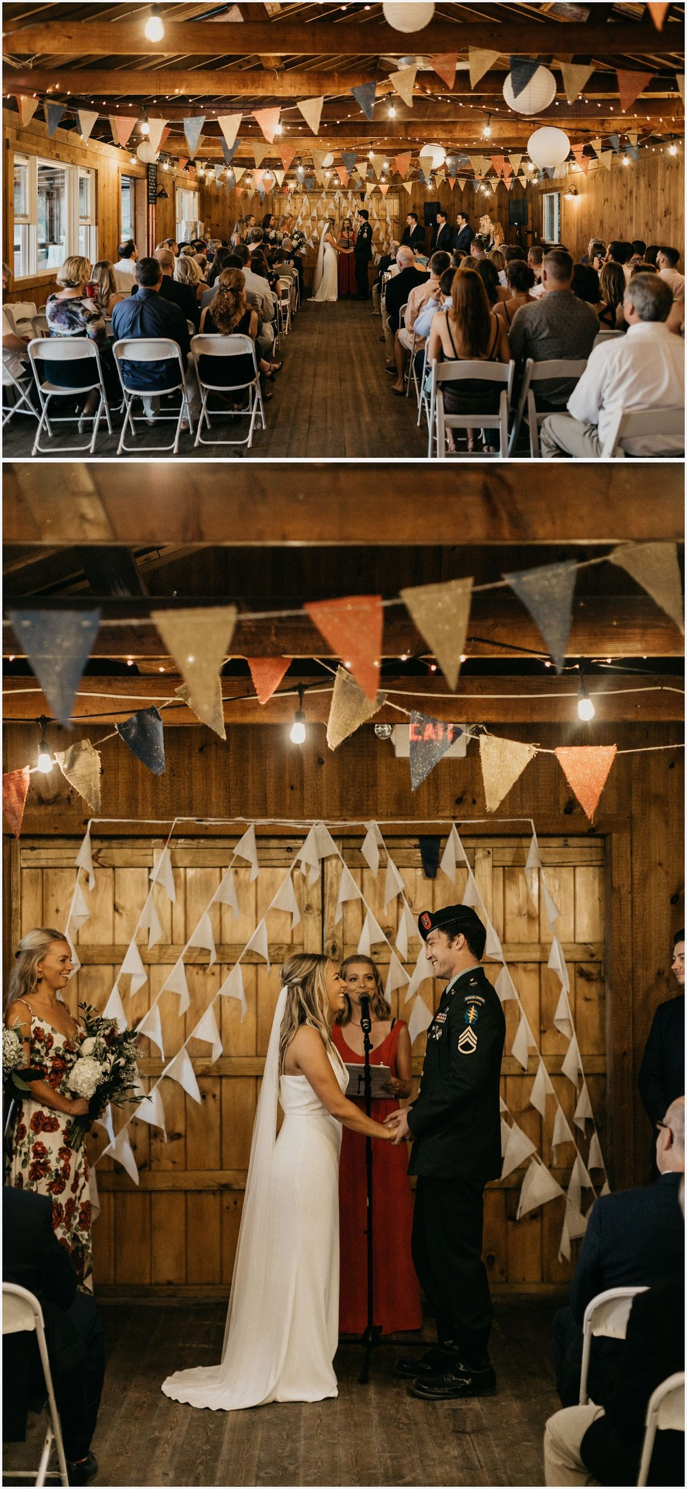 Wedding ceremony in the Chequessett Yacht & Country Club