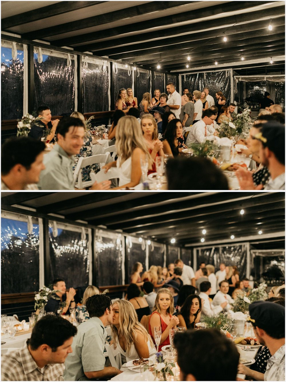 Wedding reception at the Chequessett Yacht & Country Club