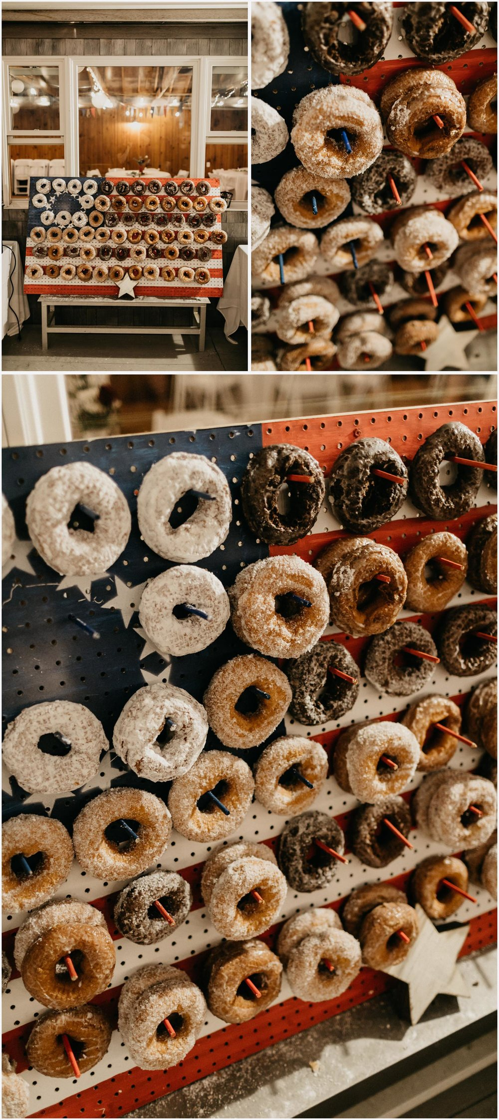 Wedding donut wall at the Chequessett Yacht & Country Club