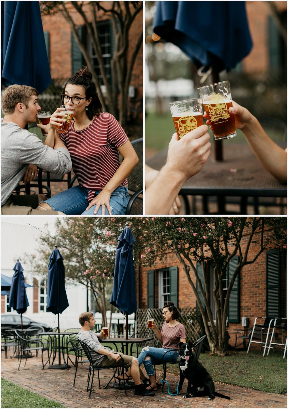 Couple having a beer at the Pensacola Bay Brewery