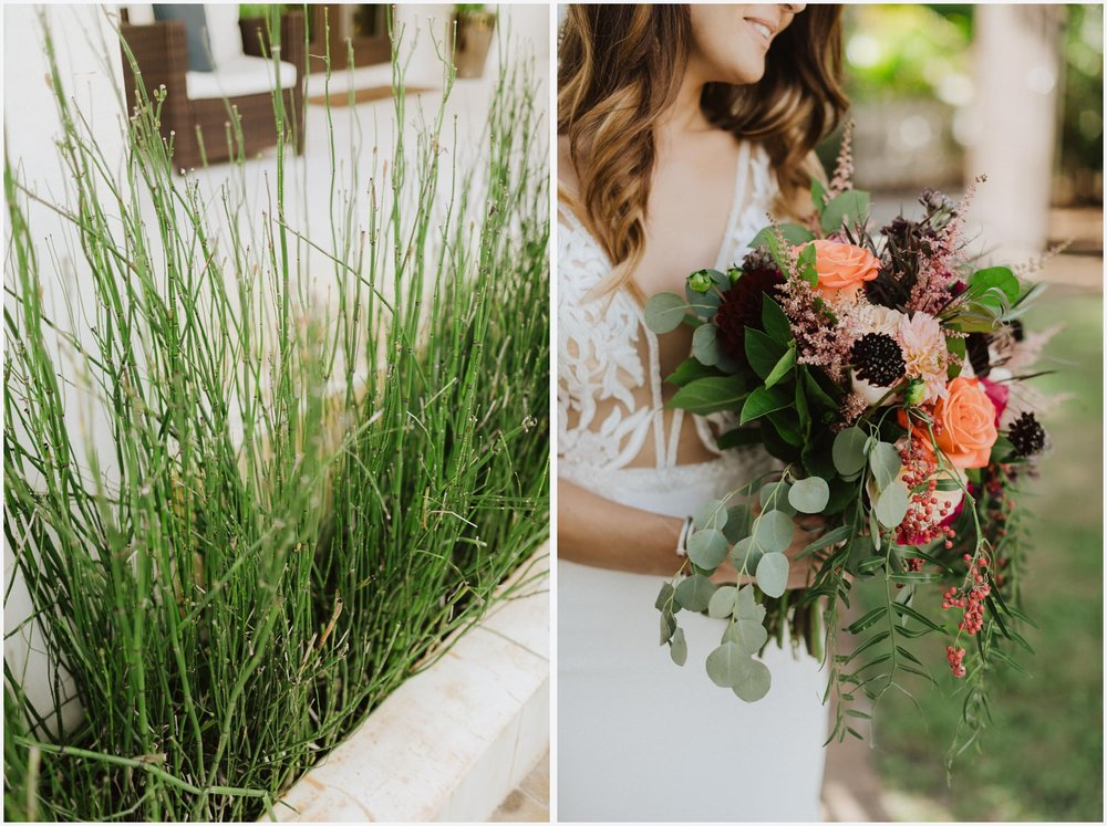 Bridal portraits at her Rosemary Beach house