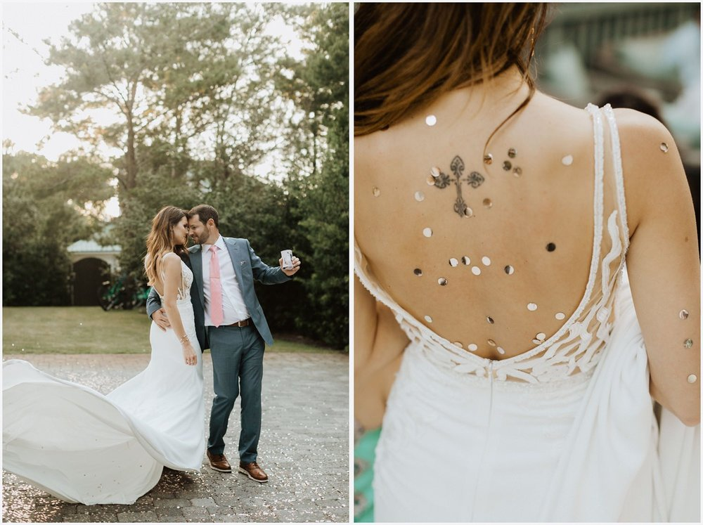 Bride and groom at their Rosemary Beach wedding