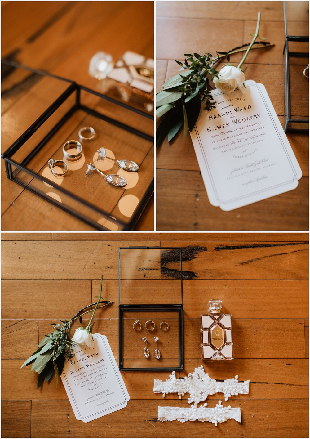 Wedding details at the Shark's Tooth Golf Club
