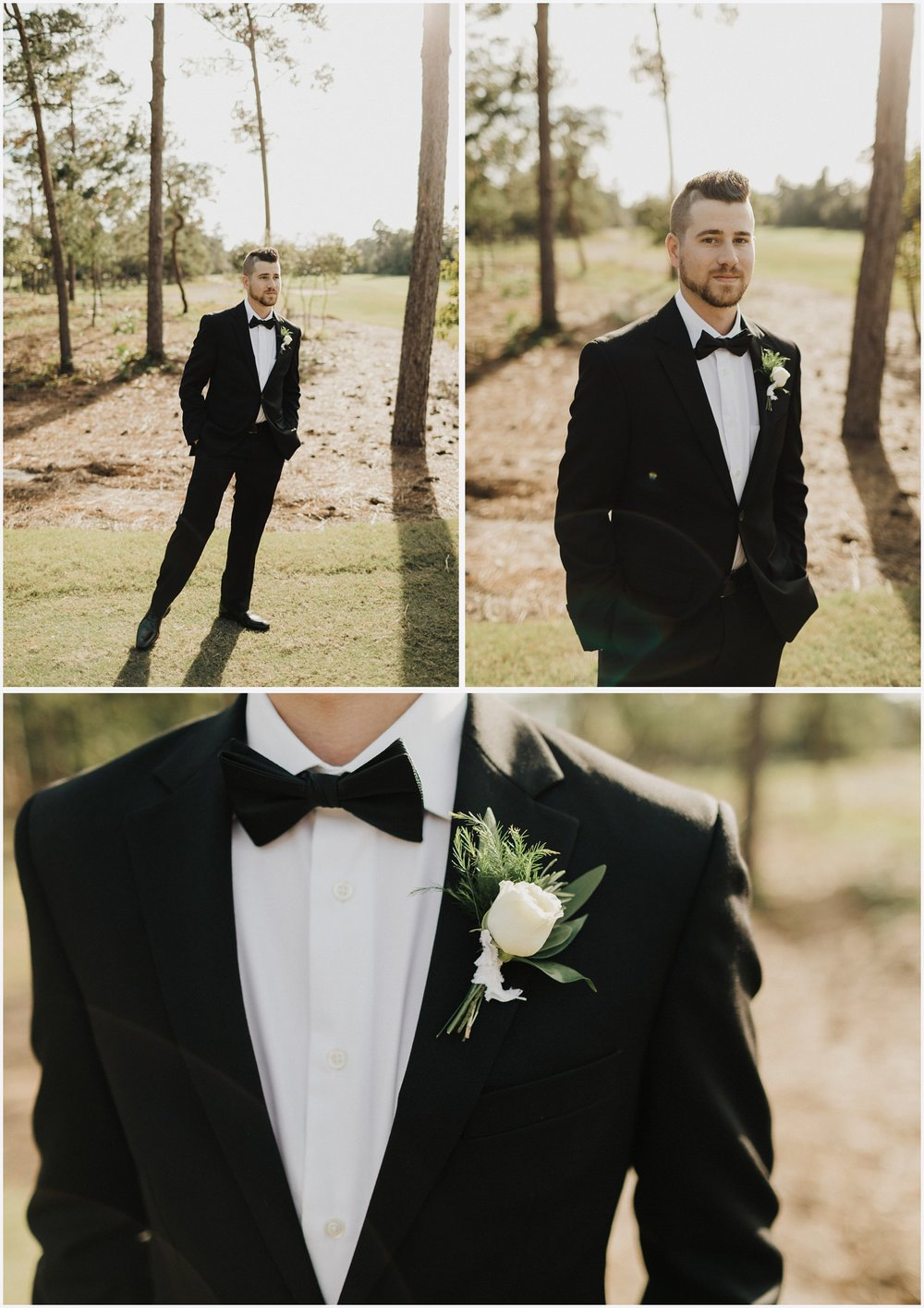 Groom's portraits at his Shark's Tooth Golf Club wedding
