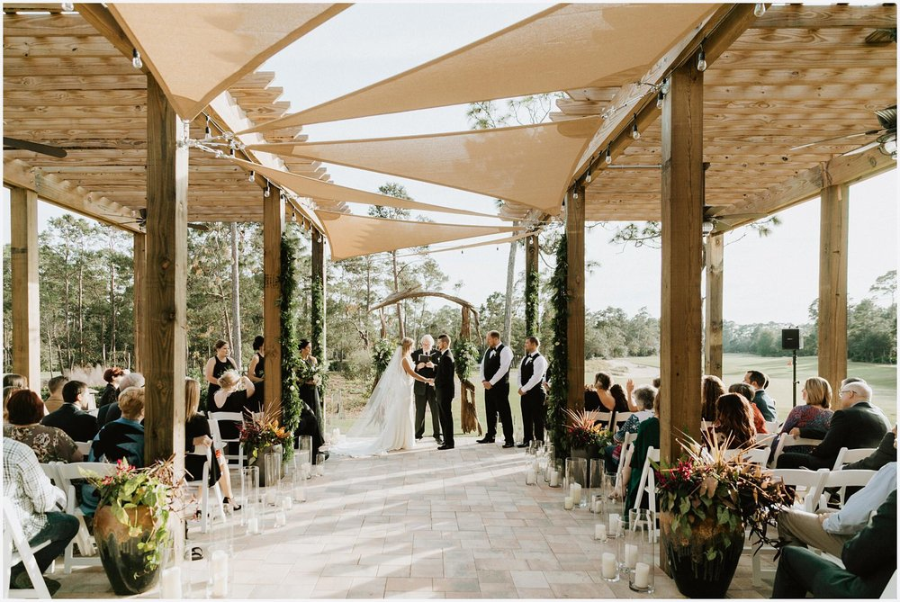 Wedding ceremony at the Shark's Tooth Golf Club