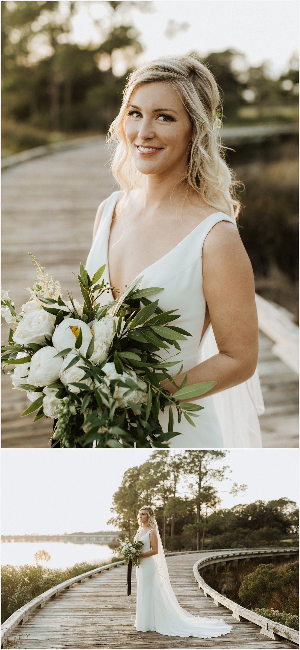 Bridal portraits at her Shark's Tooth Golf Club Wedding